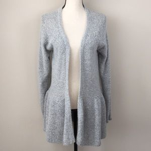 ELLE Open Front Gray Cardigan